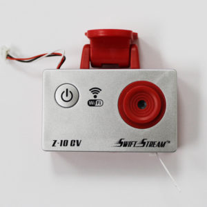 Z-10 Silver/Red WIFI Camera – Rectangular-shaped Style